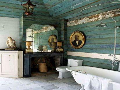 Rustic Beach Bathroom Decor