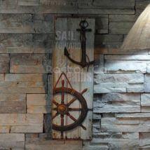 Rustic Nautical Wall Art Wood Sign