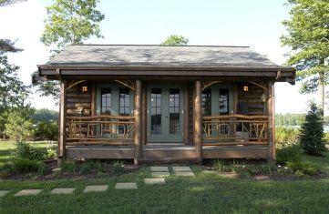 Small Rustic Log Cabin Exterior