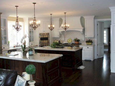White Double Kitchen Islands