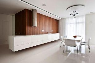 White Wood Kitchen Interiors