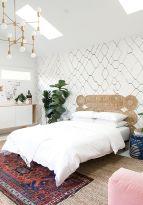 65 The Best Way to Beautify Your Bedroom Headboard 0044