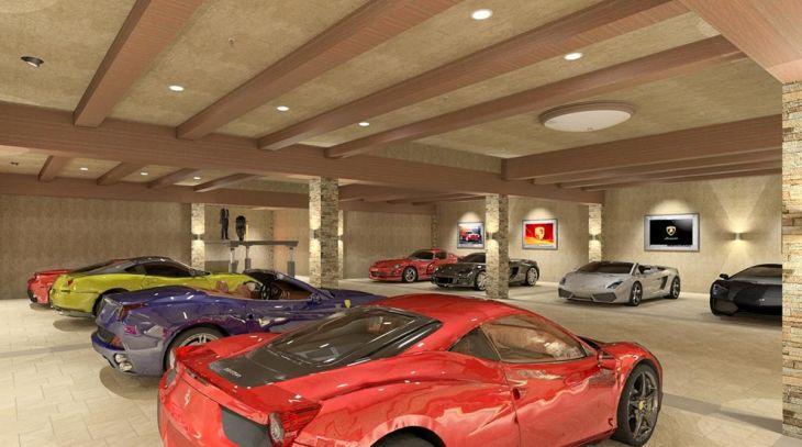 Beautiful Underground Parking Garage