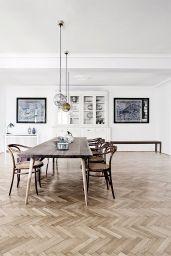 Chevron Grey Wood Floors