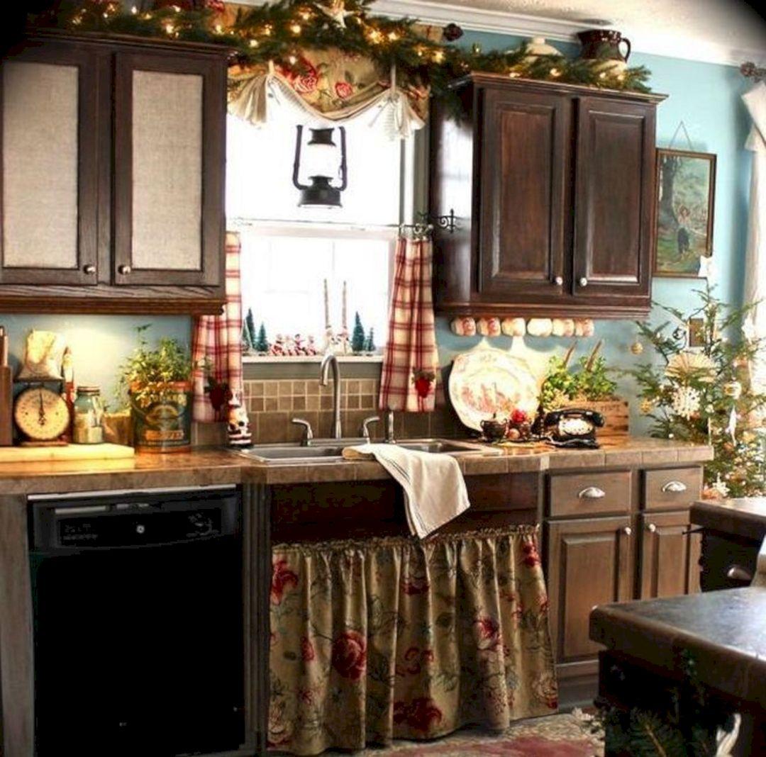 Country Kitchen Christmas Decorating Ideas Decoredo