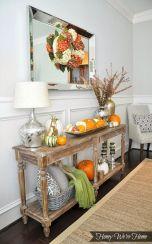 Entryway Table Decor Ideas for Fall 11