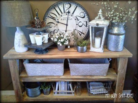 Entryway Table Decor Ideas for Fall 12