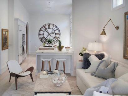 35+ Beautiful Living Room Wall Decor with Clocks Ideas – DECOREDO
