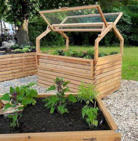 Greenhouse Raised Herb Gardens 1