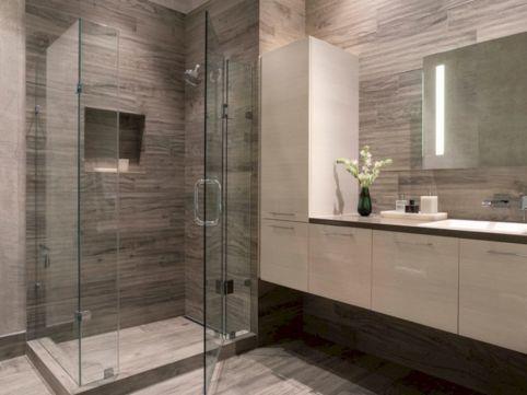 Grey and White Modern Bathroom Tile Ideas