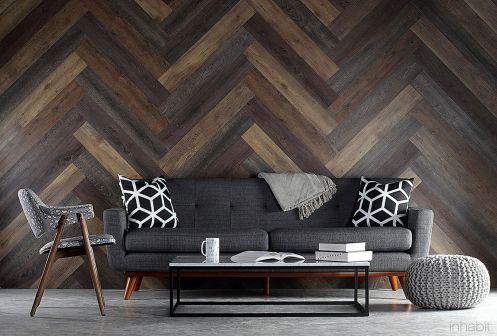 Herringbone Wood Floors Wall