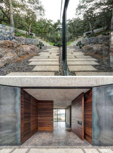 House with Underground Garage Design