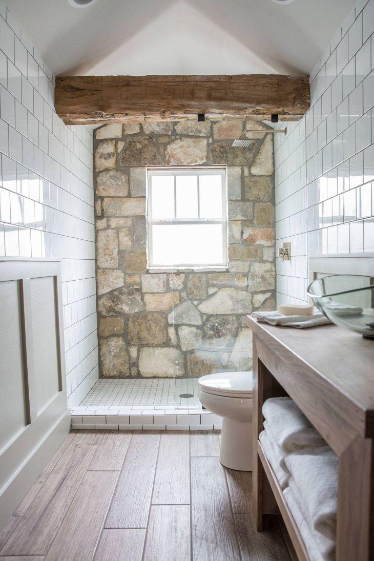 Rock Wall Bathroom Design ideas