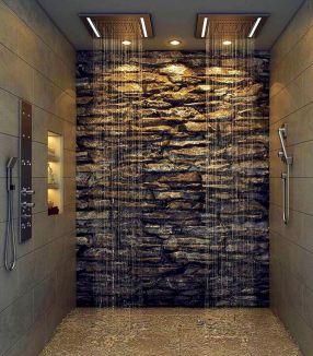 Amazing Rock Wall Bathroom You Need to Impersonate 21