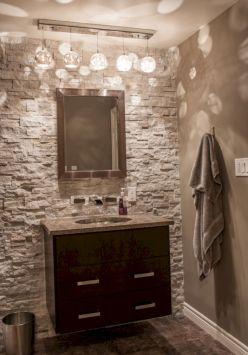 Amazing Rock Wall Bathroom You Need to Impersonate 32
