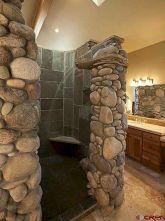 Amazing Rock Wall Bathroom You Need to Impersonate 33