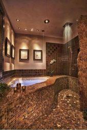 Amazing Rock Wall Bathroom You Need to Impersonate 46
