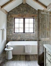 Amazing Rock Wall Bathroom You Need to Impersonate 9