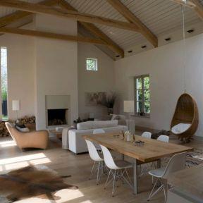 Barn Style Living Room Open Plan