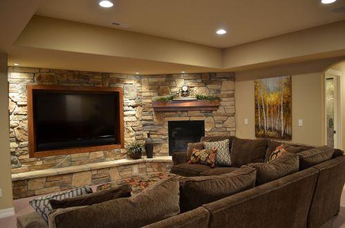 Basement TV Wall Idea
