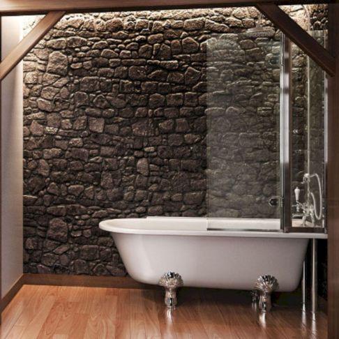 Bath with Shower Curtain