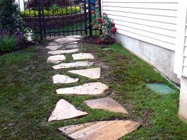 DIY Natural Stone Walkway