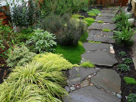 Garden Path Stepping Stone Walkways Ideas