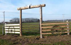 Horse Farm Entrance Gate