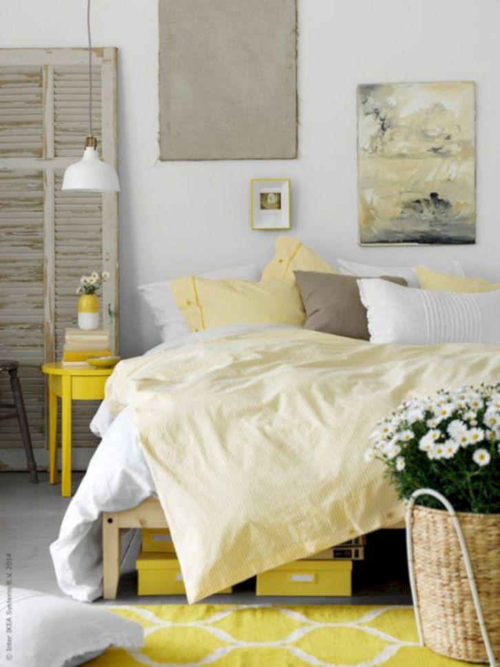 Incredible Yellow Aesthetic Bedroom Decorating Ideas 10