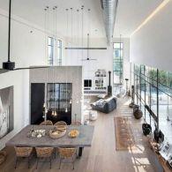 Industrial Loft Living Spaces Open