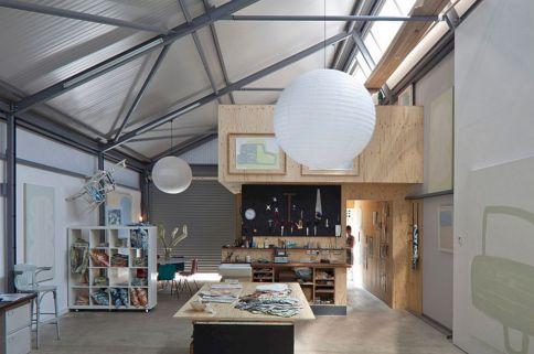 Industrial Office Interior Design Idea