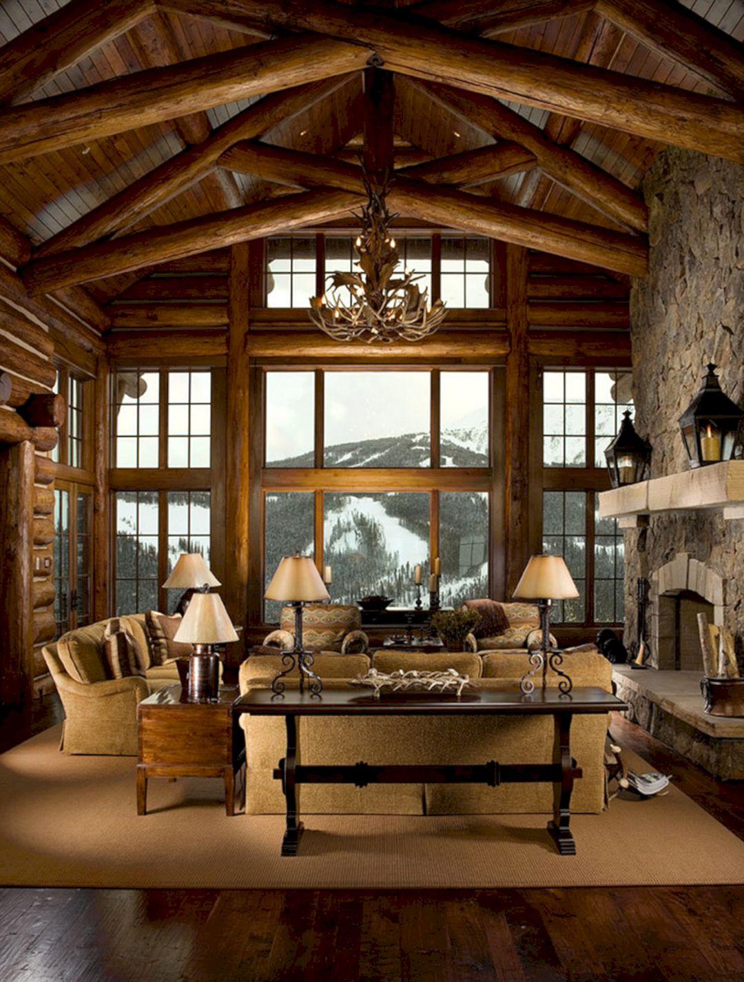 Mountain Log Cabin Living Room Decor – DECOREDO