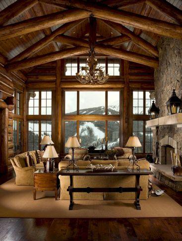 cabin living room decor. Mountain Log Cabin Living Room Decor 35  Incredible Ideas For Cool Design DECOREDO