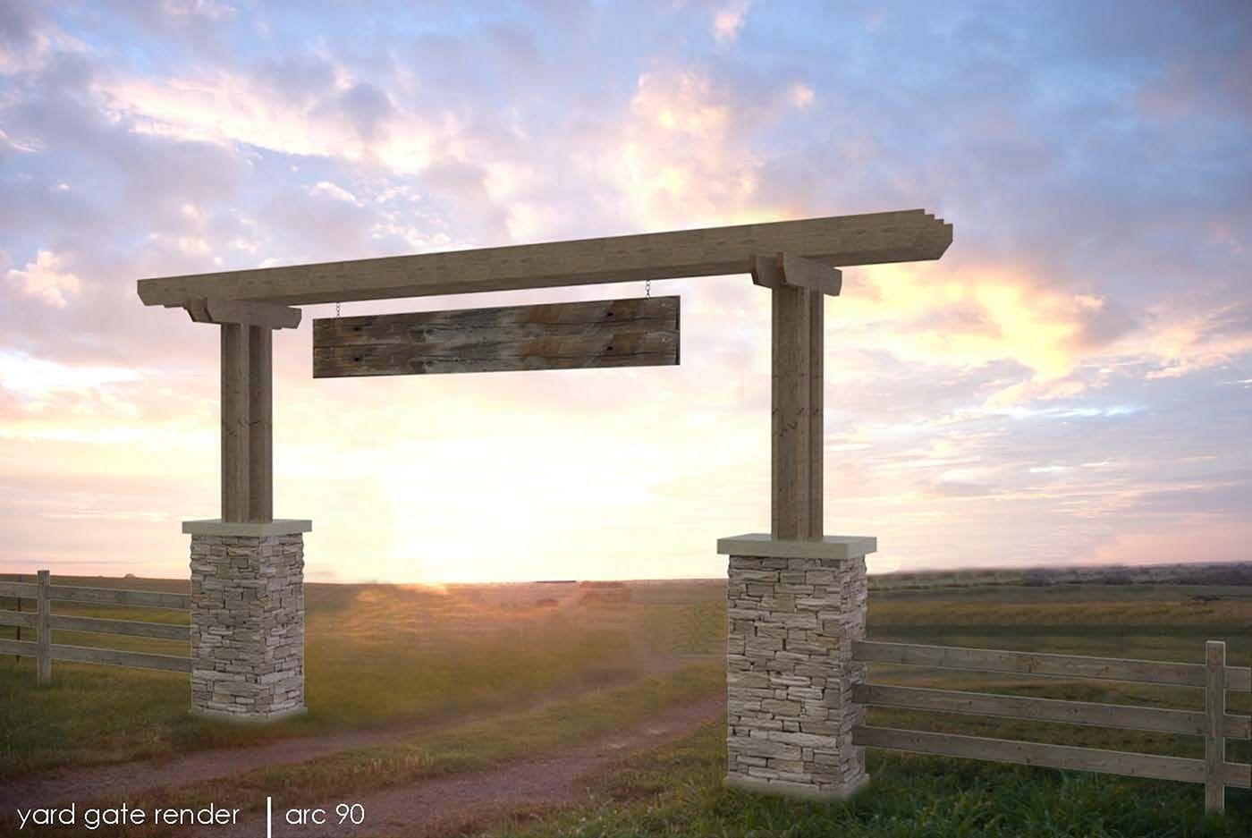Ranch Gate Entrance Design Idea