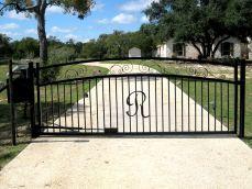 Ranch Style Gate Entrance