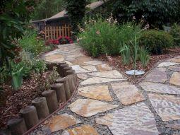 Rock Patio and Walkway Design Ideas
