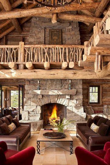 Rustic Cabin Living Room Ideas