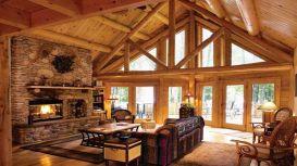 Small Log Cabin Living Room Ideas