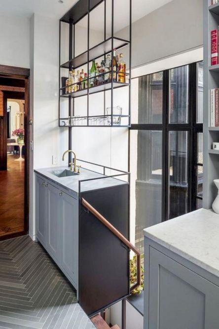 Ceiling Suspended Shelves Kitchen
