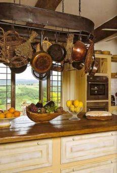 French Country Kitchen Pot Racks