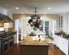 Kitchens with Pot Racks Hanging