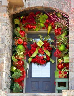 Christmas Door Decor Idea