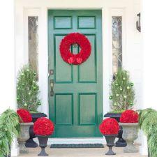 Front Door Christmas Decorations Ideas Design
