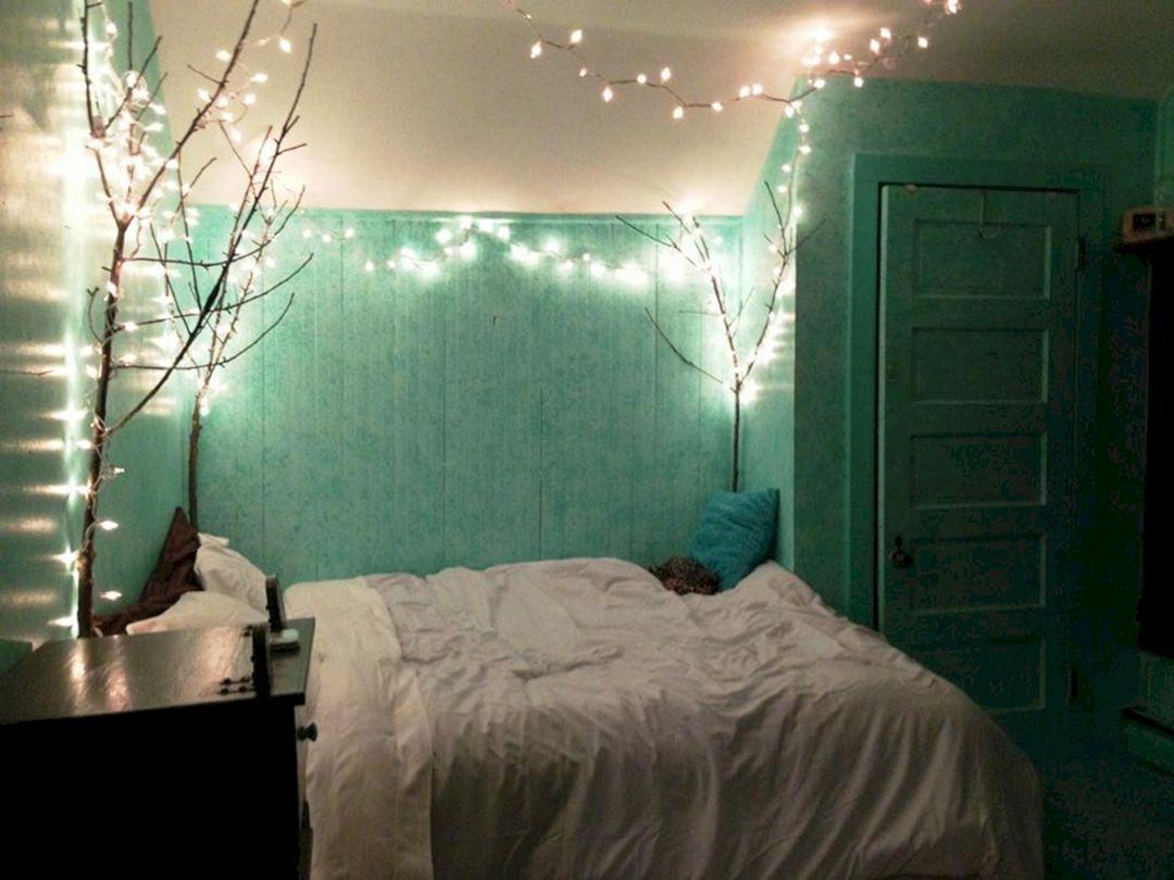 lovely mint green bedroom ideas | Mint Green Room with Lights Tumblr – DECOREDO