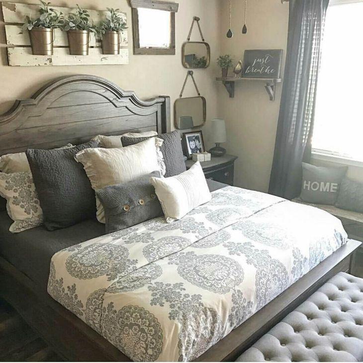 Rustic Farmhouse Bedroom Design Ideas