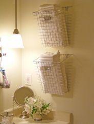 Bathroom Towel Storage Basket