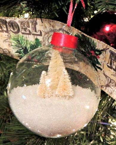 DIY Snow Globe Christmas Ornament