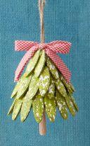 DIY Wood Christmas Tree Ornaments