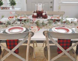 Farmhouse Dining Room Table Christmas