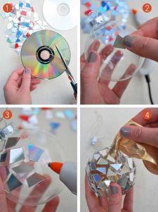 Mosaic CD Ornament